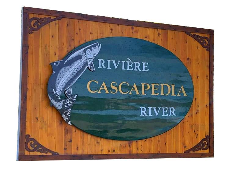 Cascapedia river sign